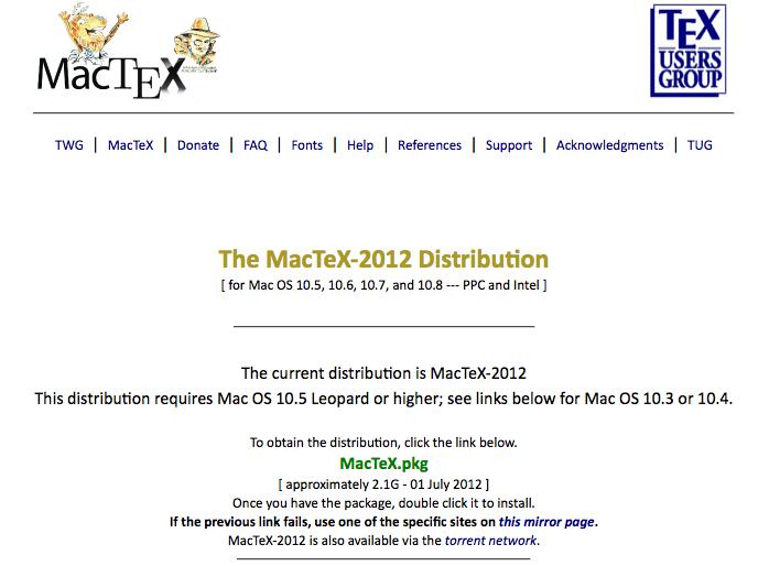 MacTeX
