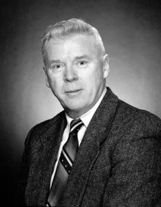 Nicholls, Gordon black and white portrait