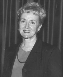 Jean Collins black and white portrait